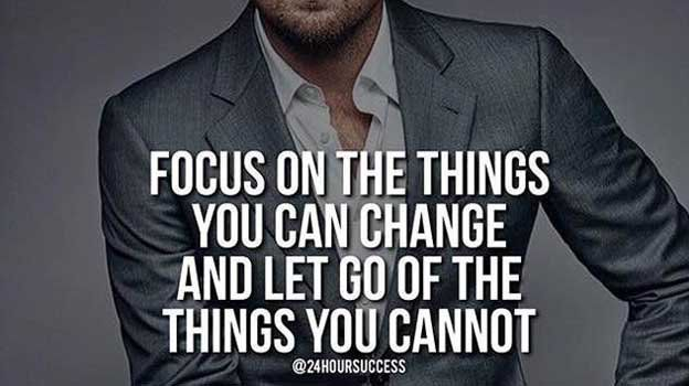Focus on the things you CAN change, and let go of the things you cannot. #Wisdom  https:// buff.ly/2zbf2N9  &nbsp;  <br>http://pic.twitter.com/FvSMKnSew8