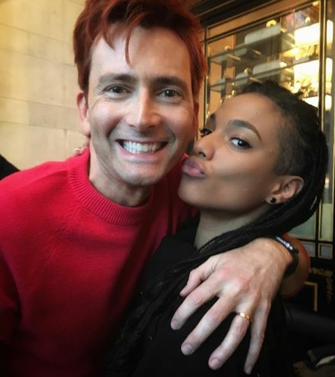 David Tennant and Freema Agyeman at the Doctor Who Breakfast - 14/12/17
