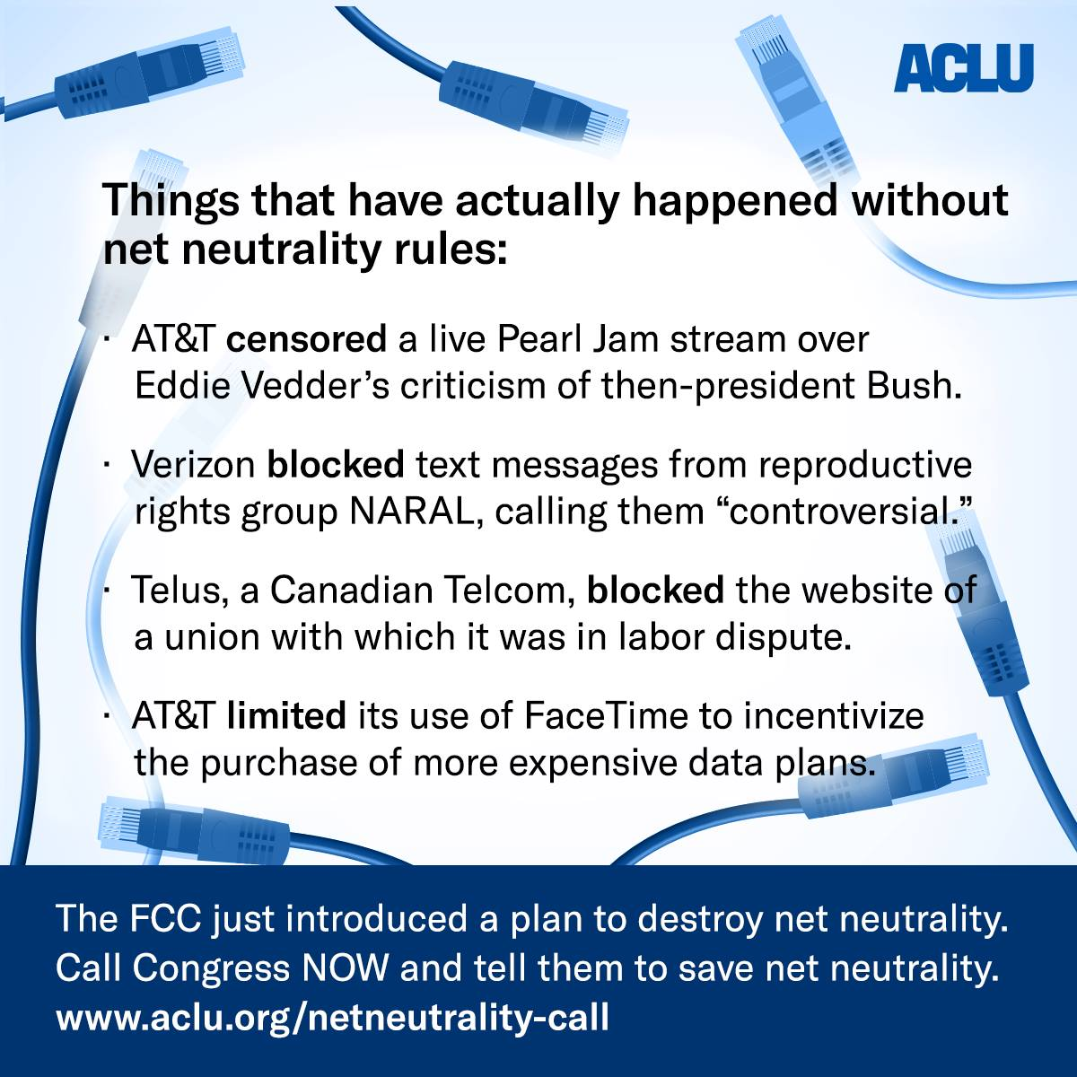 Here are some of the reasons we care that the FCC is about to vote whether or not to repeal #NetNeutrality