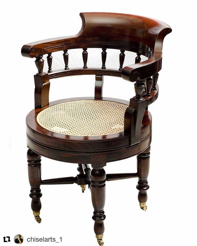VICTORIAN REVOLVING CHAIR: CA-334 http://www.chiselarts.com #chiselarts #robertlighton #interiorstyling #interiordesgners #interiordesign #finefurniture #furniture #chairs #studyrooms #victorianchairs #decor #homedecor #homeoffice #officechair