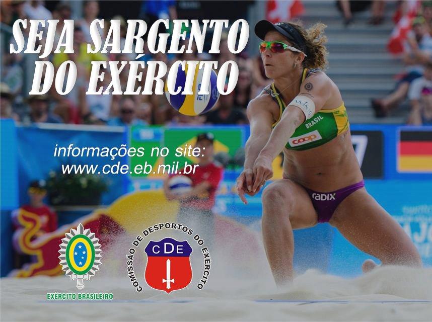 ATLETAS DE ALTO RENDIMENTO - A Comissão de Desportos do  está disponibilizando vagas para 2018 nas modalidades de boxe, esgrima, hipismo, judô, karatê, natação, orientação, pentatlo militar,  paraquedismo, tiro e voleibol. Saiba + no site https://t.co/JTOTx8Kluk