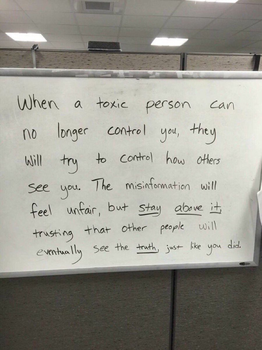 When a toxic person can no longer control you, they will try to control how others see you.  The misinformation will feel unfair, but stay above it, trusting that other people will eventually see the truth, just like you did.  Be brave, be honest, stand tall and stay above it.
