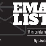 If you want to cultivate an email list that's truly valuable to your business, keep your mailing list small. https://t.co/mHfAQ7xqKI