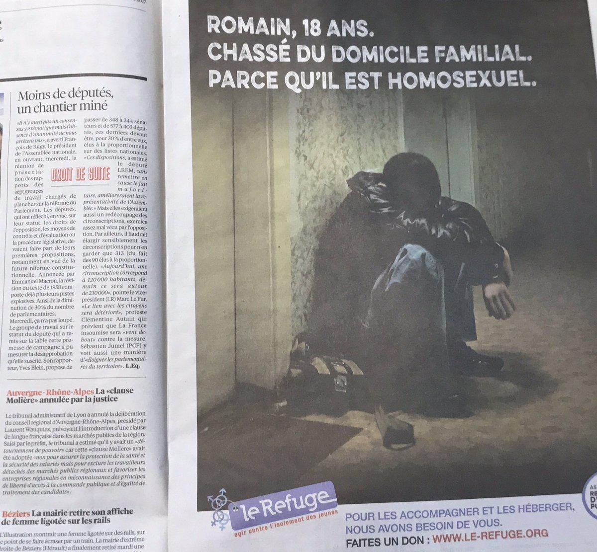 Un grand merci @libe pour la page offerte à l'asso @lerefuge à l'occasion de la campagne hivernale #FaitesUnDon  #Libération  pic.twitter.com/ZZNccf7Hyw