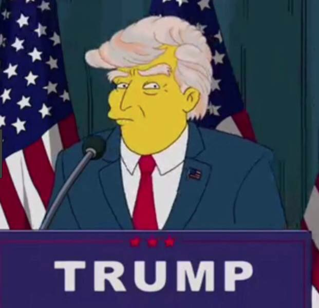 Simpsons predictions   Disney/Fox: 19 years before takeover. Trump: 16 years before his presidency.   Greece: 3 years before it defaulted.