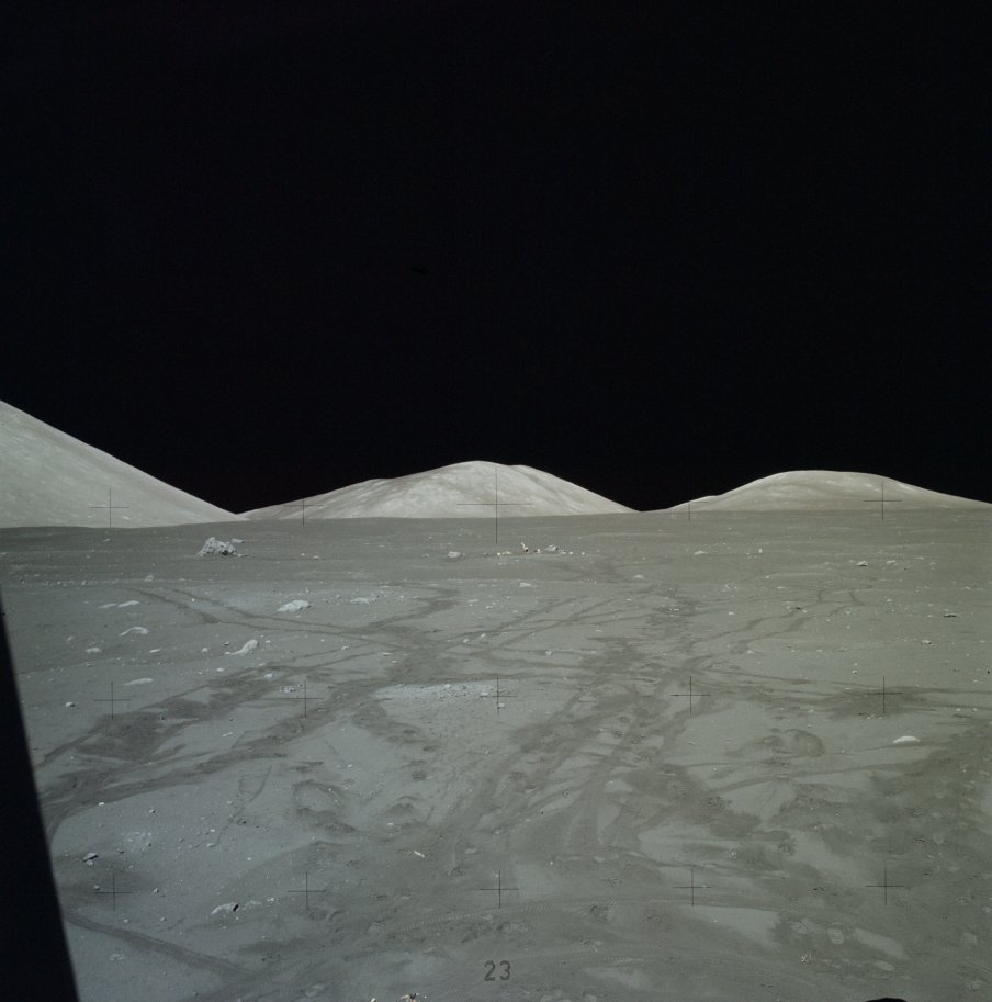 The last human&#39;s view from the surface of the #Moon so far, a post EVA-3 window pan by Jack Schmitt, #Apollo17, 45 years ago #Today  http:// go.nasa.gov/2gLet2C  &nbsp;  <br>http://pic.twitter.com/UFc1Ly1tHI
