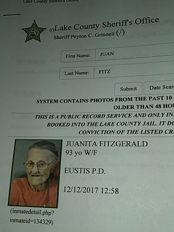 Image result for 93-year-old Juanita Fitzgerald PIC