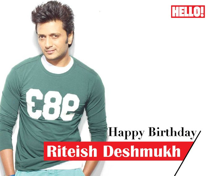 HELLO! wishes Riteish Deshmukh a very Happy Birthday