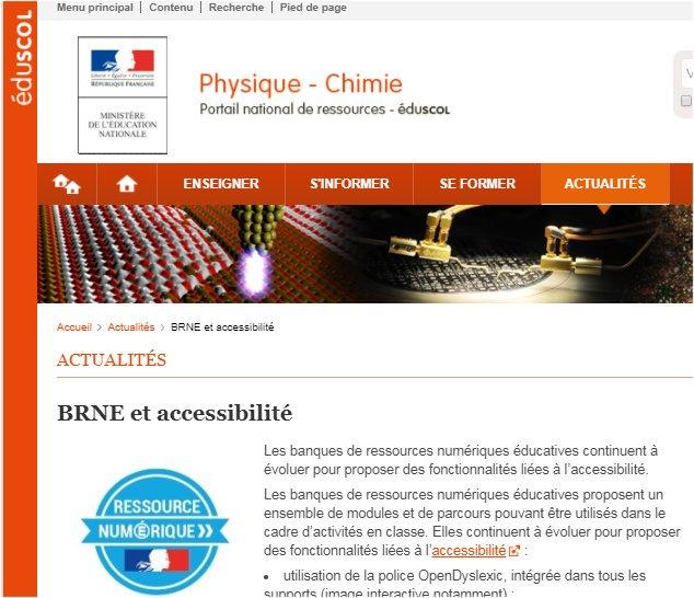 #BRNEDU De nouvelles  fonctionnalités liées à l' #accessibilité. Des  #Ress_Num adaptées   http:// bit.ly/2yrmNKj     A voir sur le portail  #physique #chimie @eduscolpic.twitter.com/55oA8oujZh