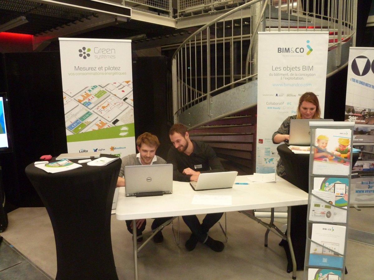Les équipes de @bimandco et @green_systemes en place pour l'Afterwork #Business #Numérique #BIM #SmartBuilding #IOT au Dôme de Caen, venez-nous voir!pic.twitter.com/juivHHsZ1c
