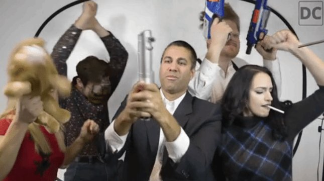 WATCH: FCC chair dances with Pizzagate conspiracy theorist in video promoting net neutrality repeal https://t.co/vffG0VOrcz