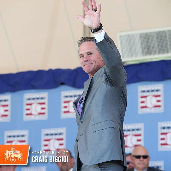 Happy birthday to legend, Hall of Famer Craig Biggio!