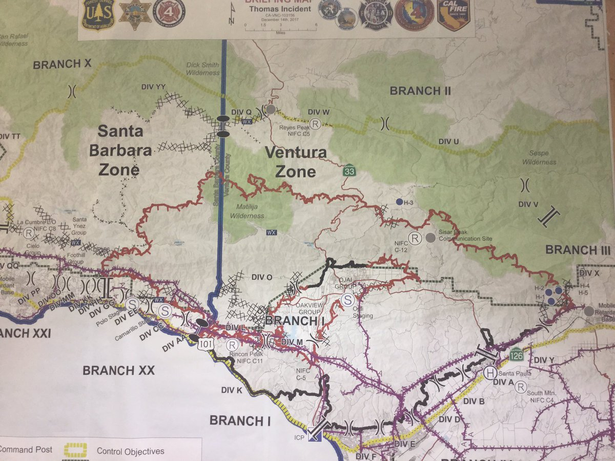 Vcfd Pio On Twitter Thomasfire Updated Fire Perimeter Map The