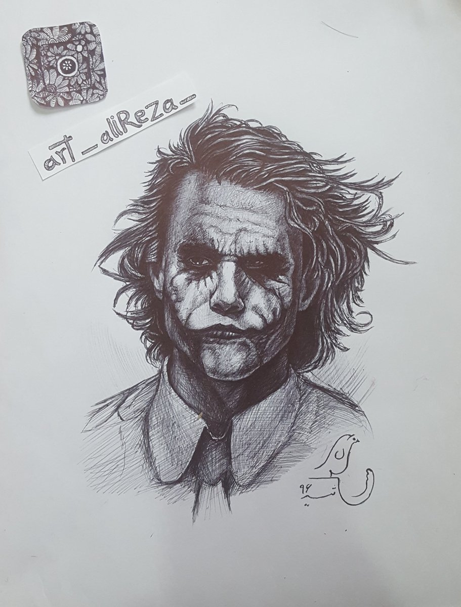 Joker drawing art art illustration drawing draw picture photography artist sketch sketchbook paper pen pencil artsy instaart beautiful