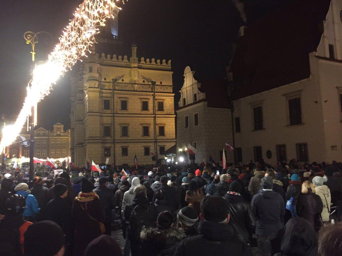 Na Starym Rynku w Poznaniu ponownie #Łań...