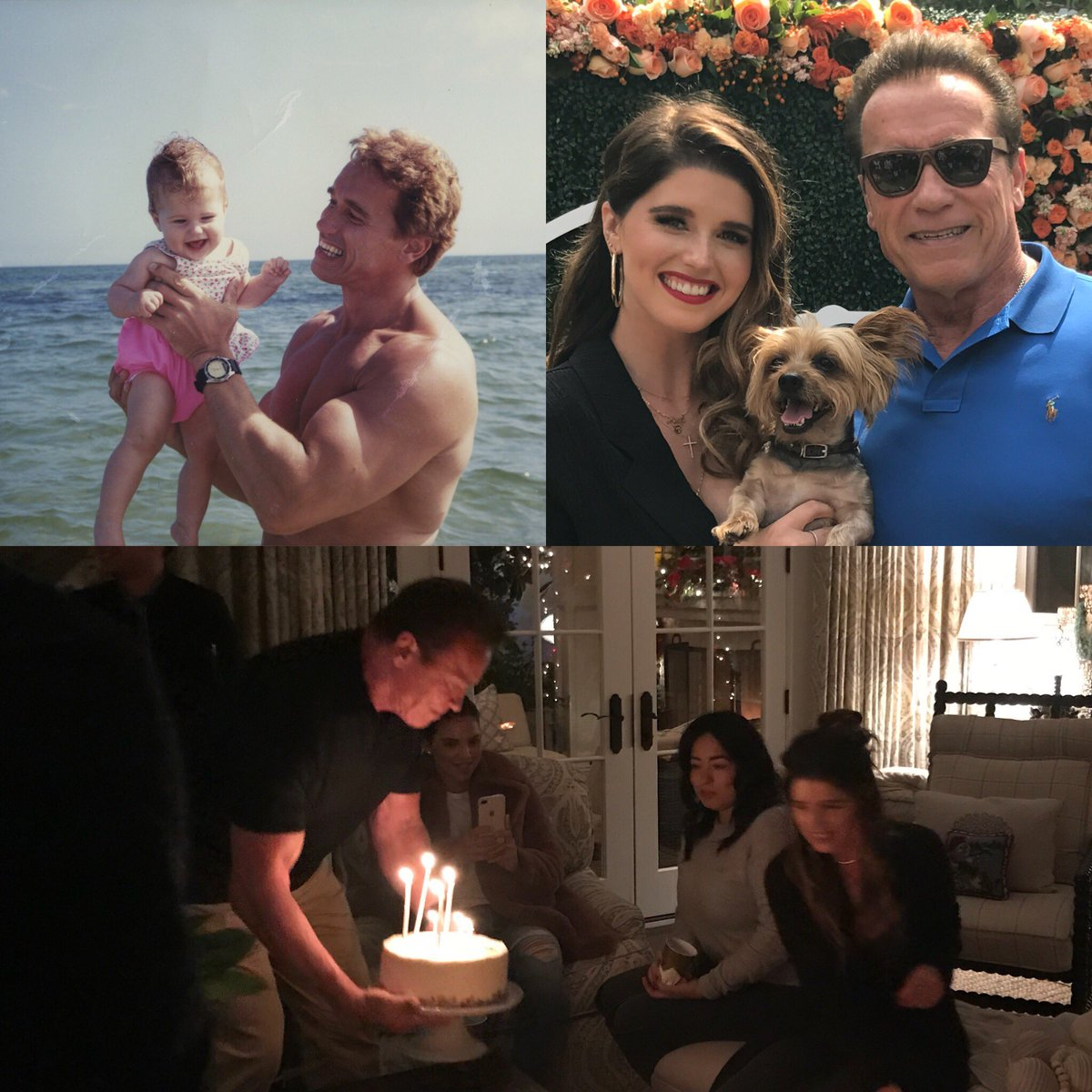 So happy to be home from France in time to celebrate @KSchwarzenegger's bday yesterday. When you were born & I was a new father, if I could have imagined everything you would accomplish in your first 28 years, my head would have exploded like in Total Recall. I love you so much.