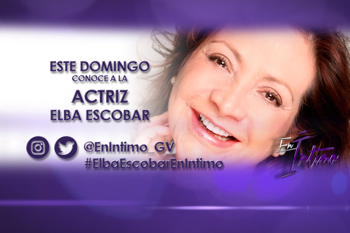 Faltan horas para disfrutar de#ElbaEscobarEnIntimocon la actriz @elbaescobar ¡Escriban desde ya! https://t.co/cN946lJ5iX