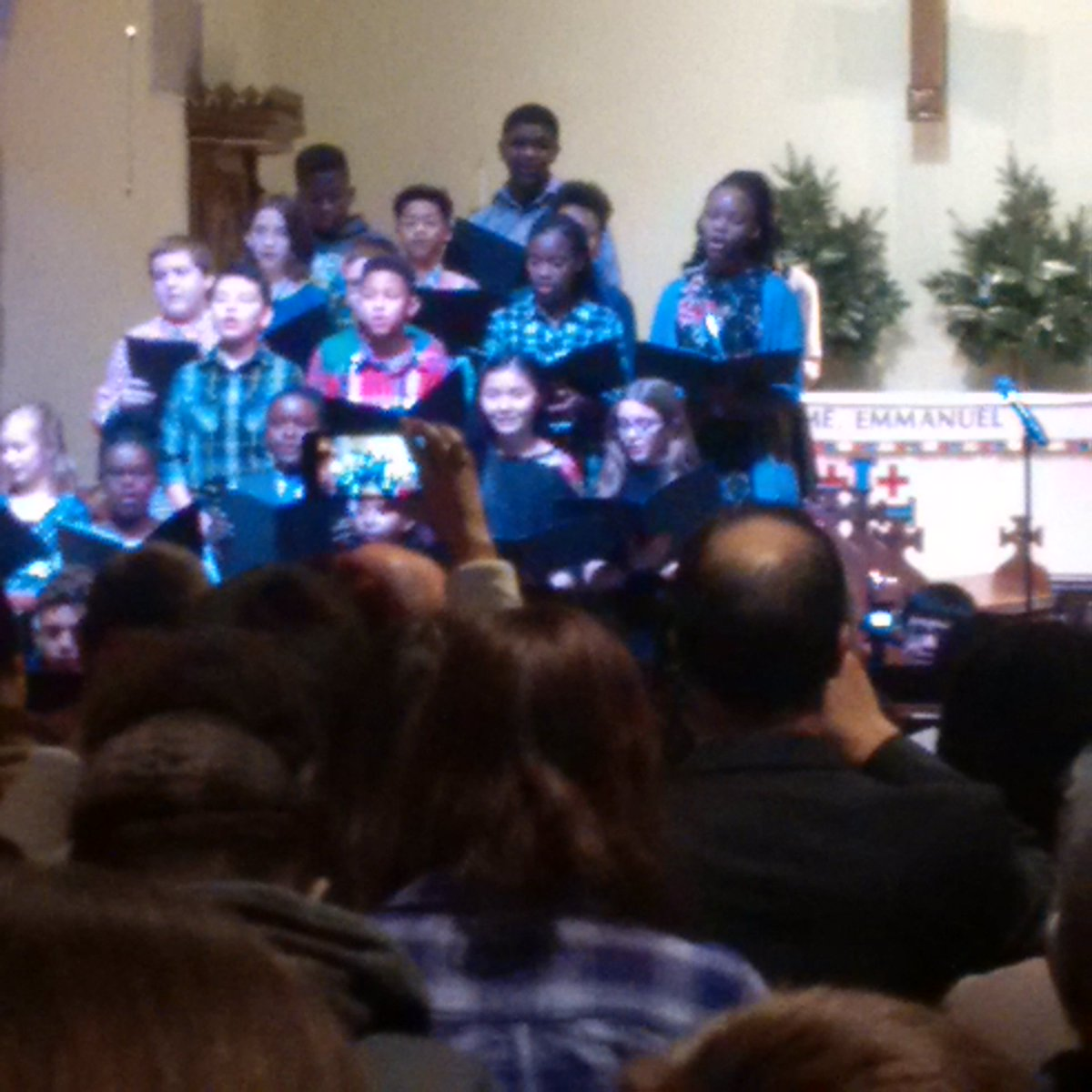SRO as we begin our annual #Advent Program now - lots of smiling faces and wonderful music