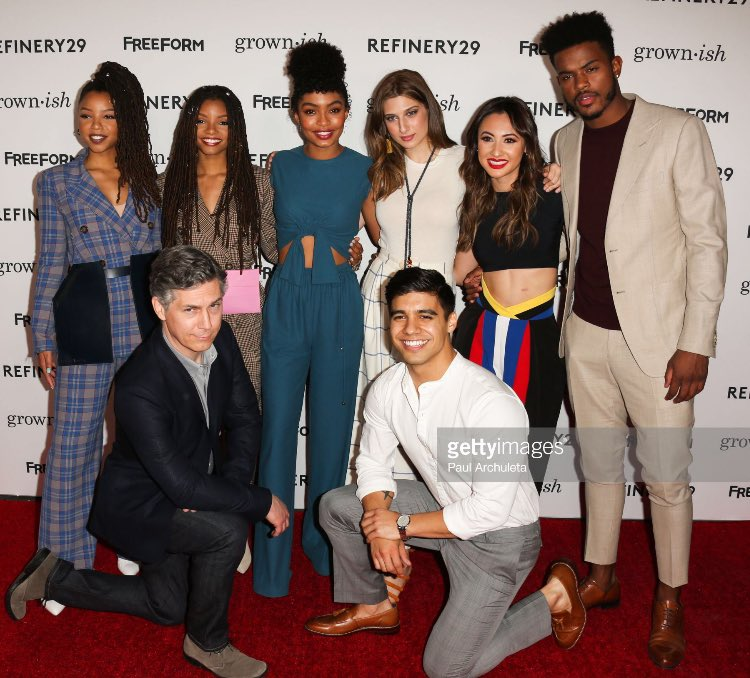 The cast of Freeform's #Grownish at the...