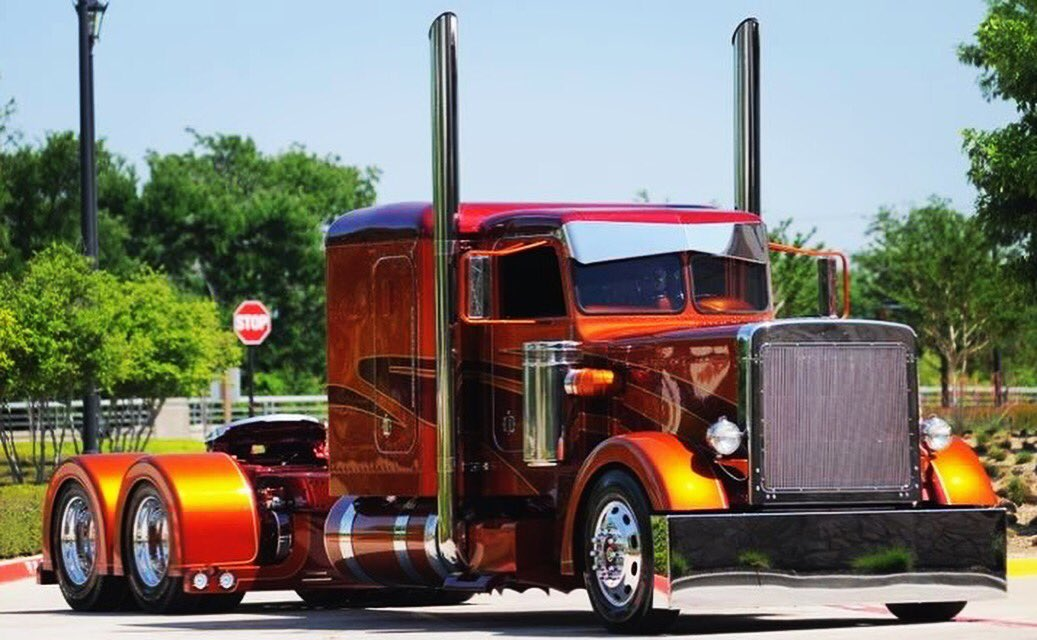 If you haven't seen this #truck, you're probably living under a rock! This has to be one of the most beautiful pieces of machinery ever made! @PeterbiltMotors #peterbilt #trucks #trucker #trucking #bigrig #largecar #chrome <br>http://pic.twitter.com/c8bI0VOkWg