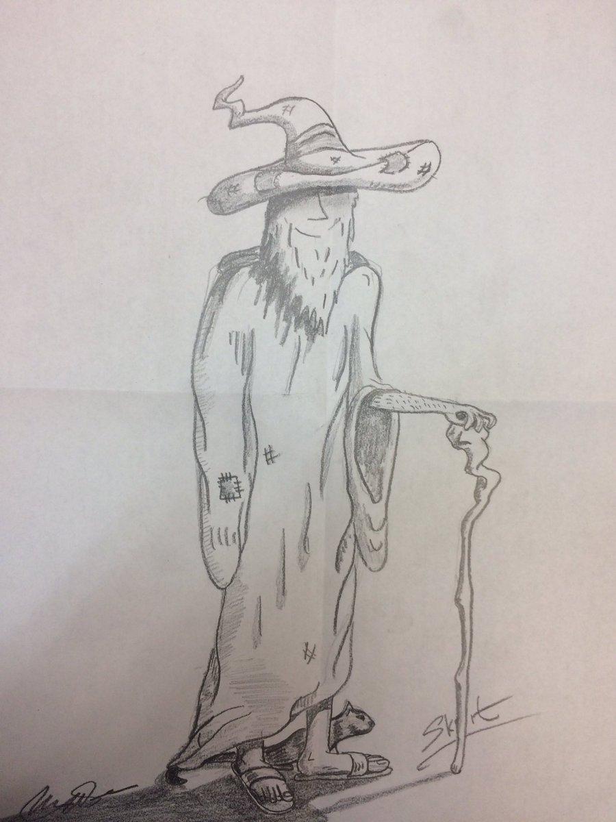 Yogalla #doodle at work! @KyleBosman @BenMoore035 #DnD #tabletopescapades #skrit #pencil