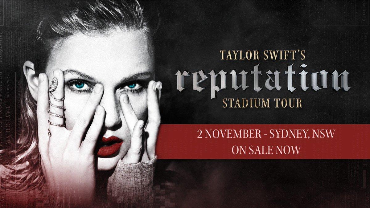 SYDNEY! Get your #reputationStadiumTour tix now 🎉 Tickets: https://t.co/FvjWW3aM9E