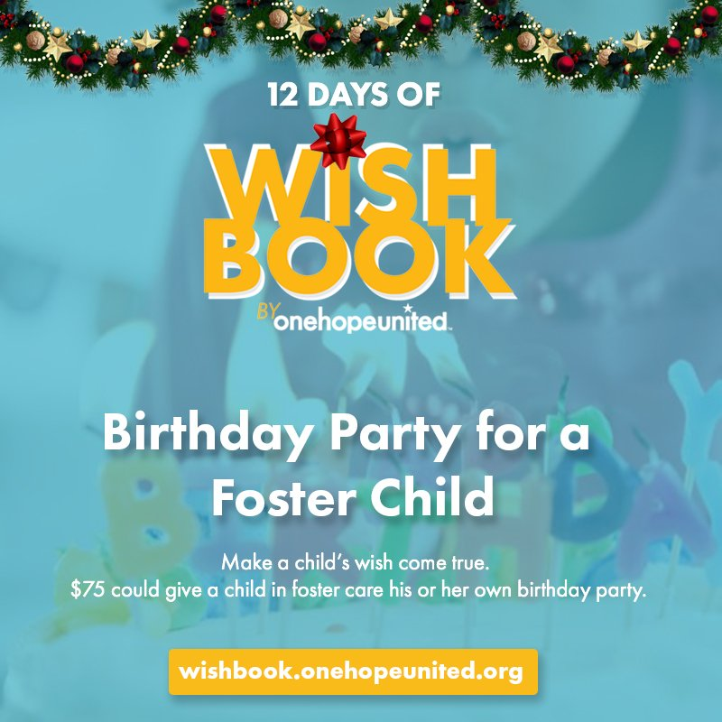 test Twitter Media - DAY 4 | $75 could give a child in foster care his or her own birthday party. So far, your generosity has allowed us to raise $2,100 for birthday celebrations!  Make a child's birthday wish come true today: https://t.co/neE4hA4NmV https://t.co/5gkKrREjaf