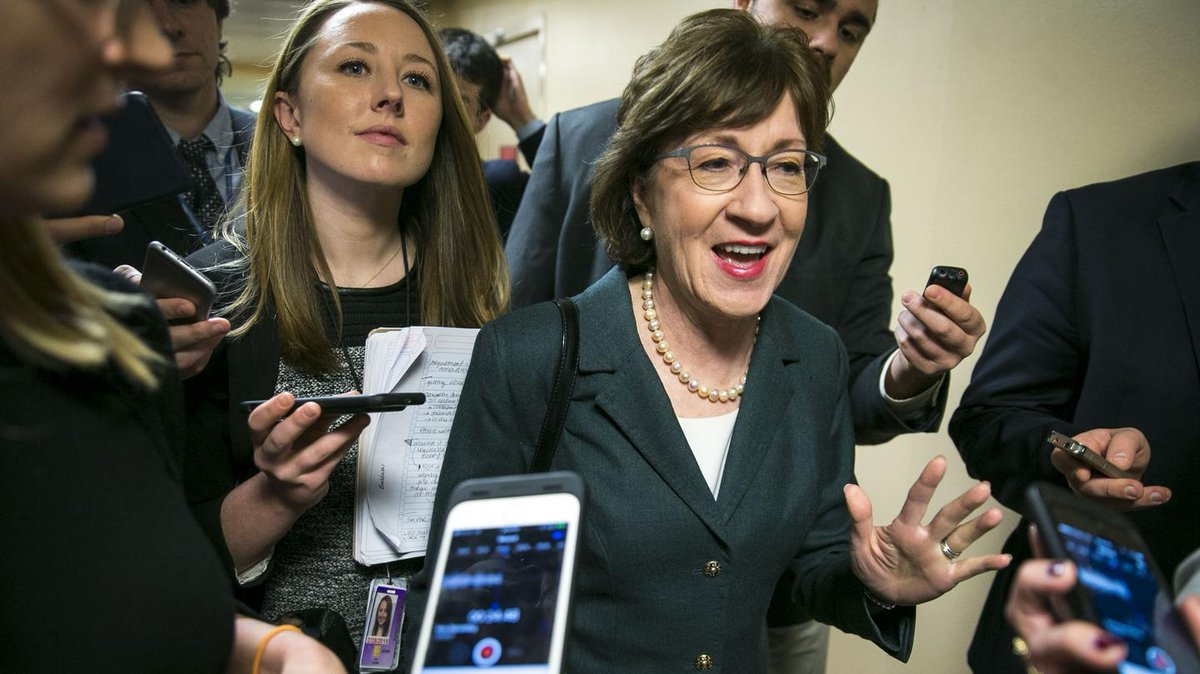Before the vote, Republican Senator Susan Collins told Ajit Pai: Ending net neutrality 'would cause immediate harm' https://t.co/IbD18CZi6Y