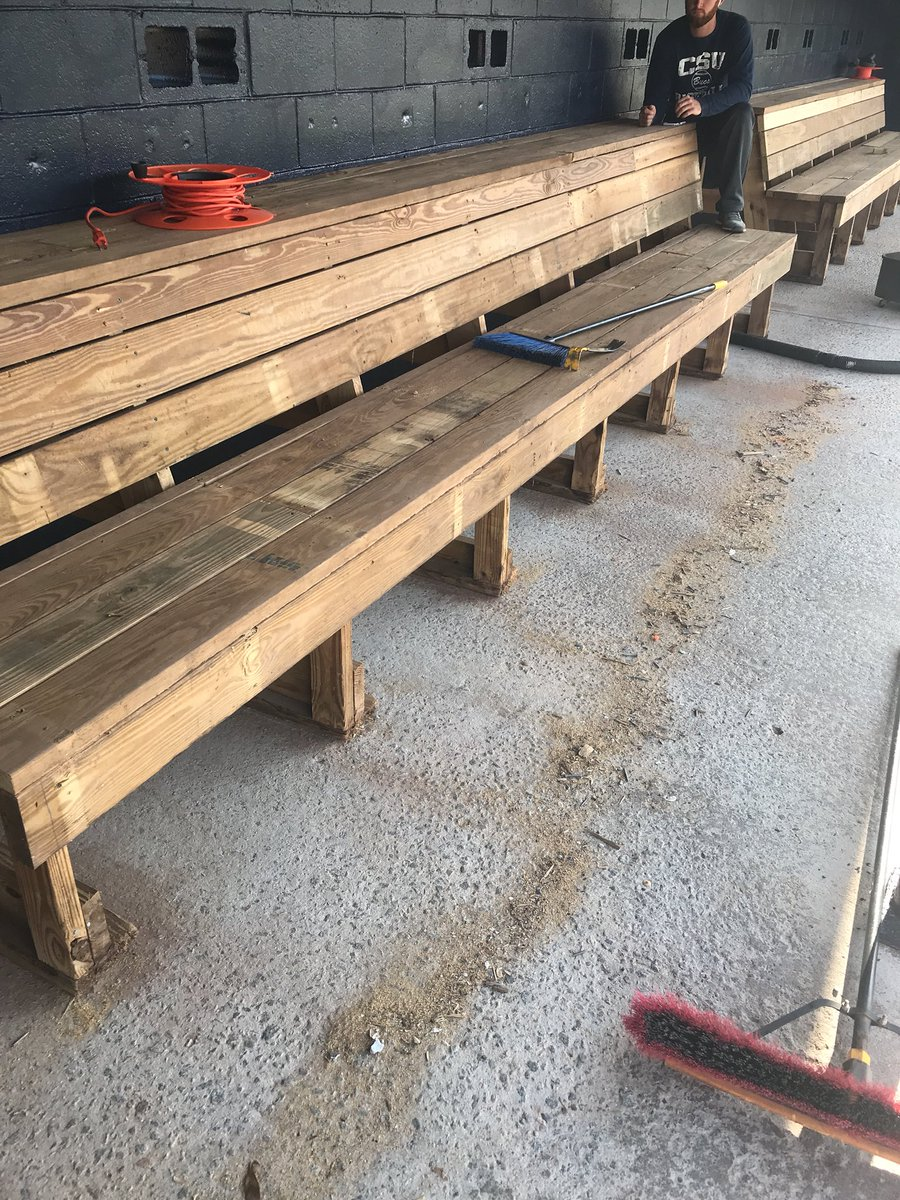 Sensational Nick Chinners On Twitter New Dugout Benches Setup Floors Ocoug Best Dining Table And Chair Ideas Images Ocougorg