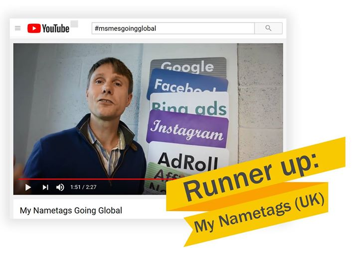 My Nametags (UK) is one of our two runners up for the 'MSMEs Global Video Competition' watch their video here https://t.co/gajCzAw8EZ @google @iccwbo