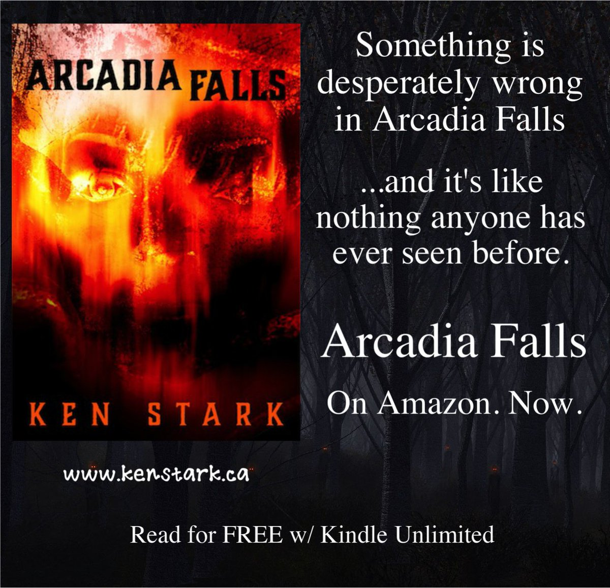 &quot;It knows we know! It knows we know, and it&#39;s after us!&quot;  #horror #mystery #thriller #YABookPromo #new #indie #ArcadiaFalls #FREE w/ #KindleUnlimited   https://www. amazon.com/dp/B077VVQVL4/ ref=la_B01D911QC2 &nbsp; … <br>http://pic.twitter.com/kAzZusoy9S