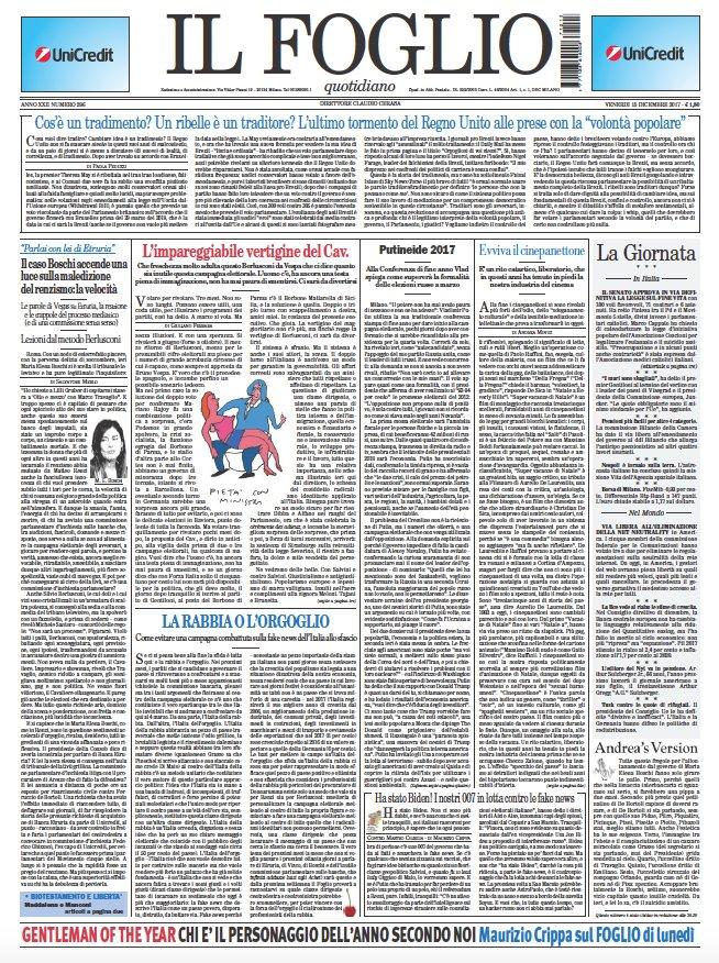 Il Foglio di oggi è in edicola, ecco la prima pagina. Clicca qui per leggerlo online https://t.co/ZjGUc83QlT