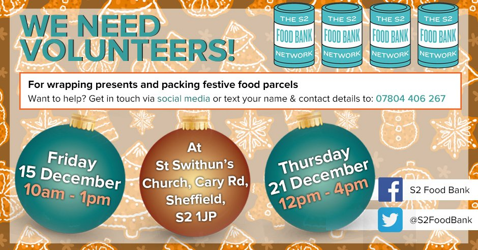 S2 Food Bank On Twitter Helpers Needed Could You Give Up