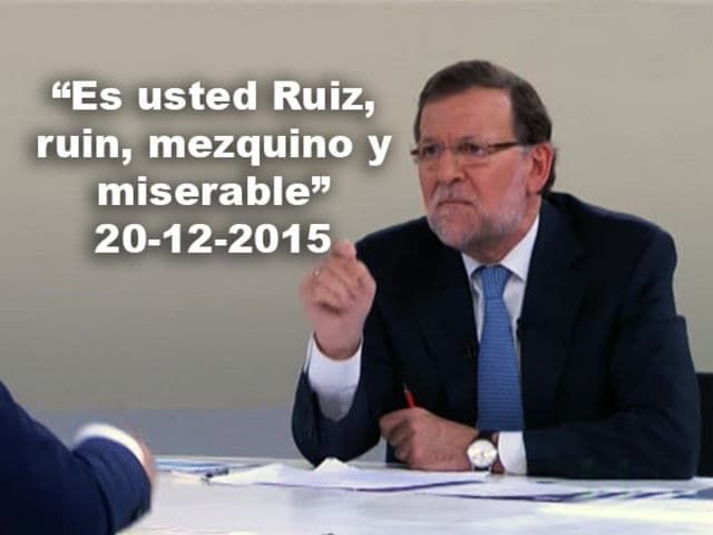 """Vous êtes Ruiz, méchant, mesquin et misérable"" #Catalogne #Llibertatpresospolitics #Rajoy pic.twitter.com/yevmQsMmN0"