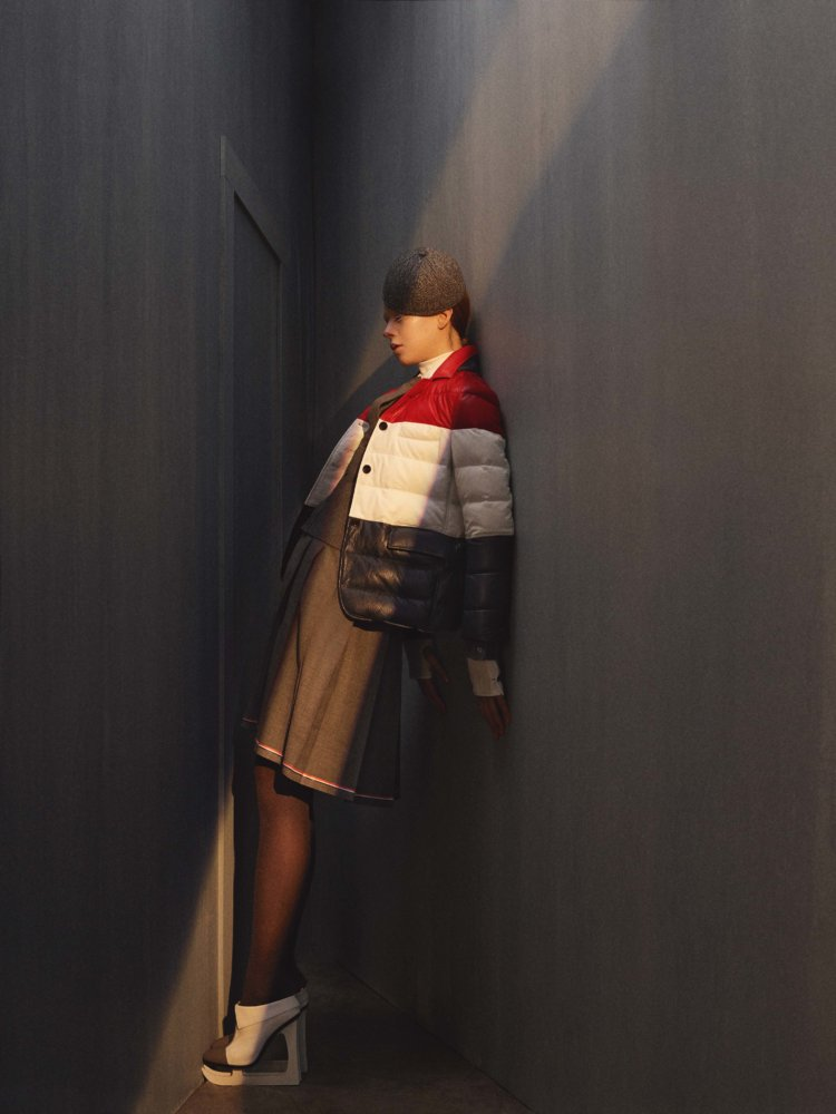 The new collection from New York designer @ThomBrowneNY razes the rules for dressing up with transitional pieces that are smart, technical and marked by his signature stripes https://t.co/vaI52QRaXy