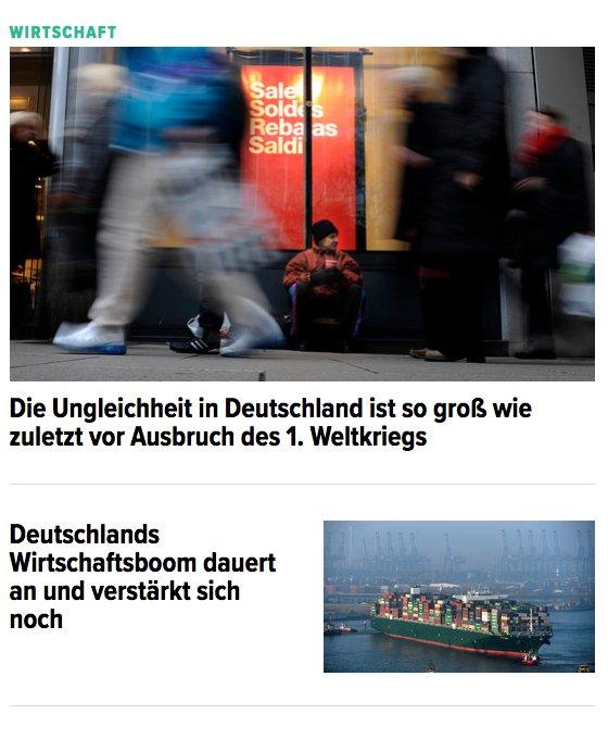 Deutschland paradox – heute auf unserer Front zu bewundern.