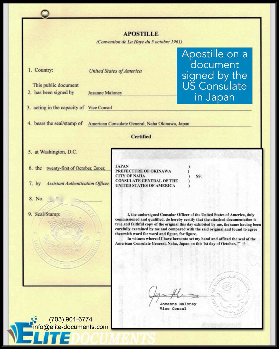 Elite documents apostille embassy serv elitedocs twitter apostille on a us consulate notarized document issued in japan any document signed by any us consulate can get the apostille authentication aiddatafo Gallery