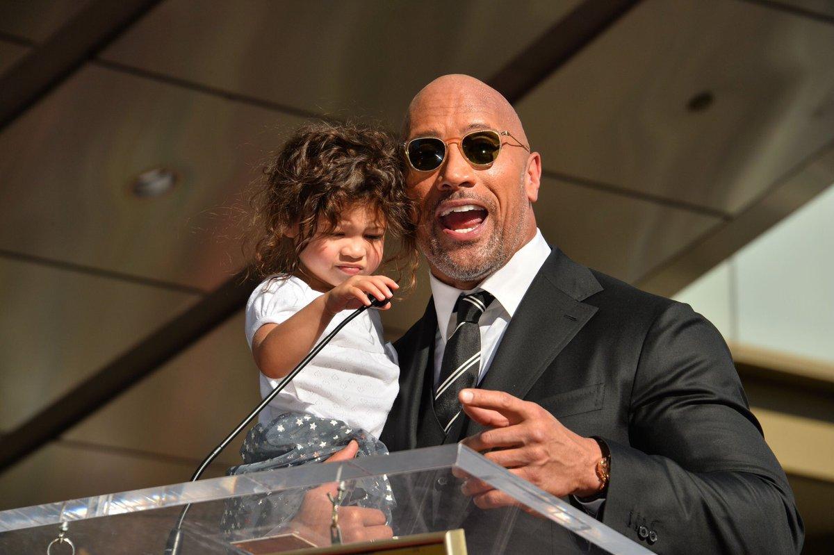 Dwayne's daughter looks like a mini Zend...