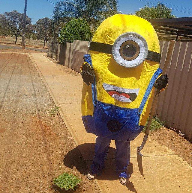 Minion invade casa e furta pedaço de grama https://t.co/GVE3I9Xrd1