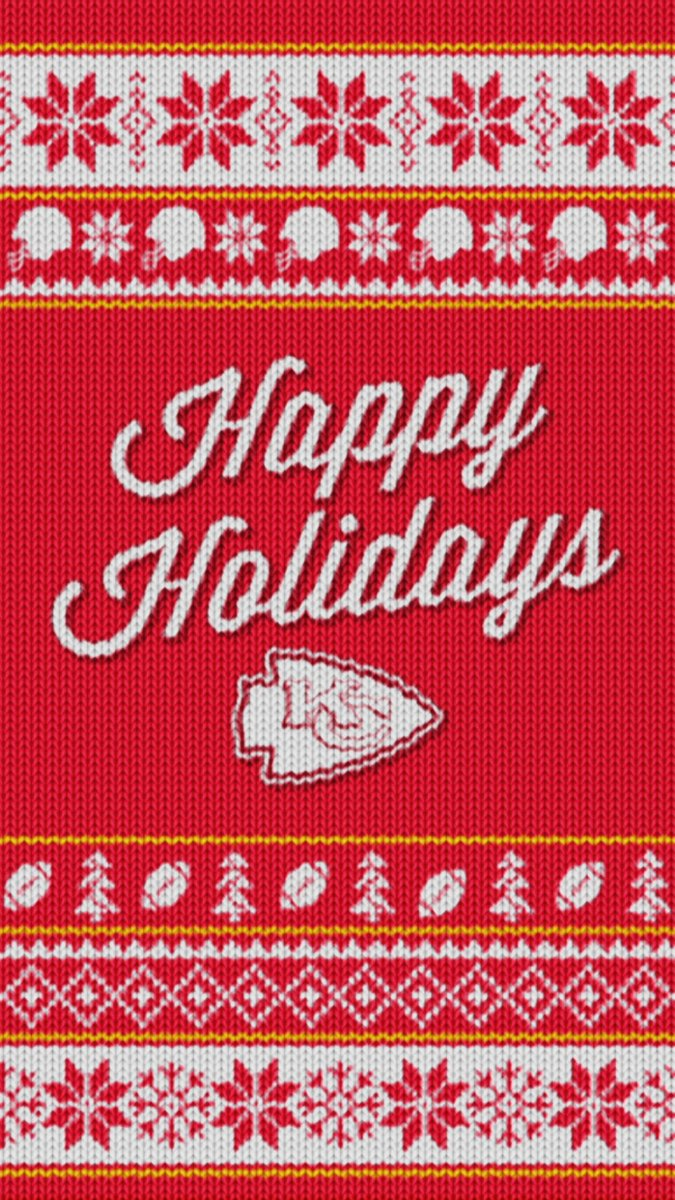 Kansas City Chiefs On Twitter Represent Chiefskingdom With A Holiday Sweater Lock Screen