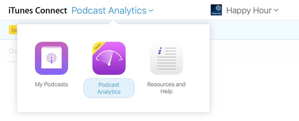 Apple's promised Podcast Analytics feature now available in beta https://t.co/oltw1pbKSO by @apollozac