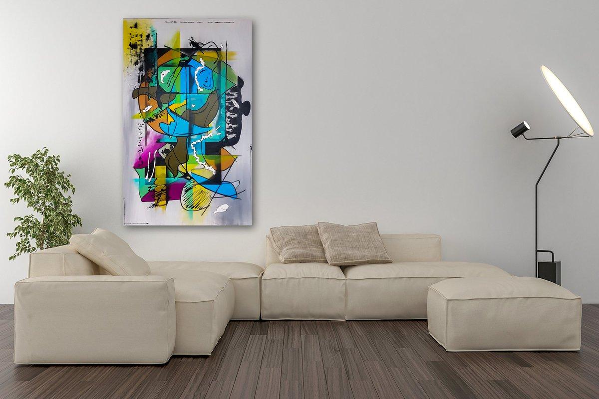 Modern Interieur Schilderij : Sunshine modern schilderij drie luik cm u bestpainting