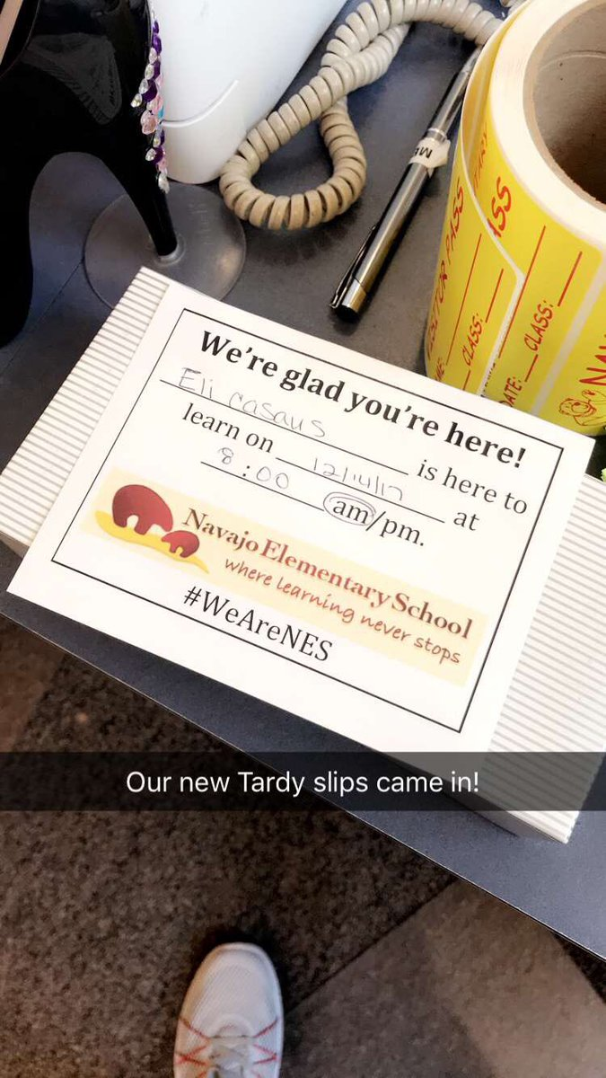 Eli Casaus On Twitter Our New Tardy Slips Came In WeAreNES KidsDeserveIt LeadLAP