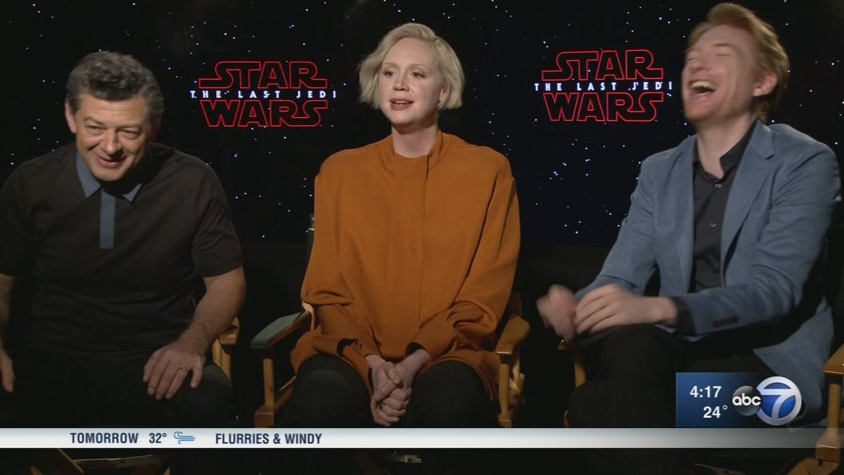 'Star Wars: The Last Jedi' showings begin tonight. ABC7's Janet Davies sat down to chat with the film's villains ahead of the premiere: https://t.co/zBkVseuvJh