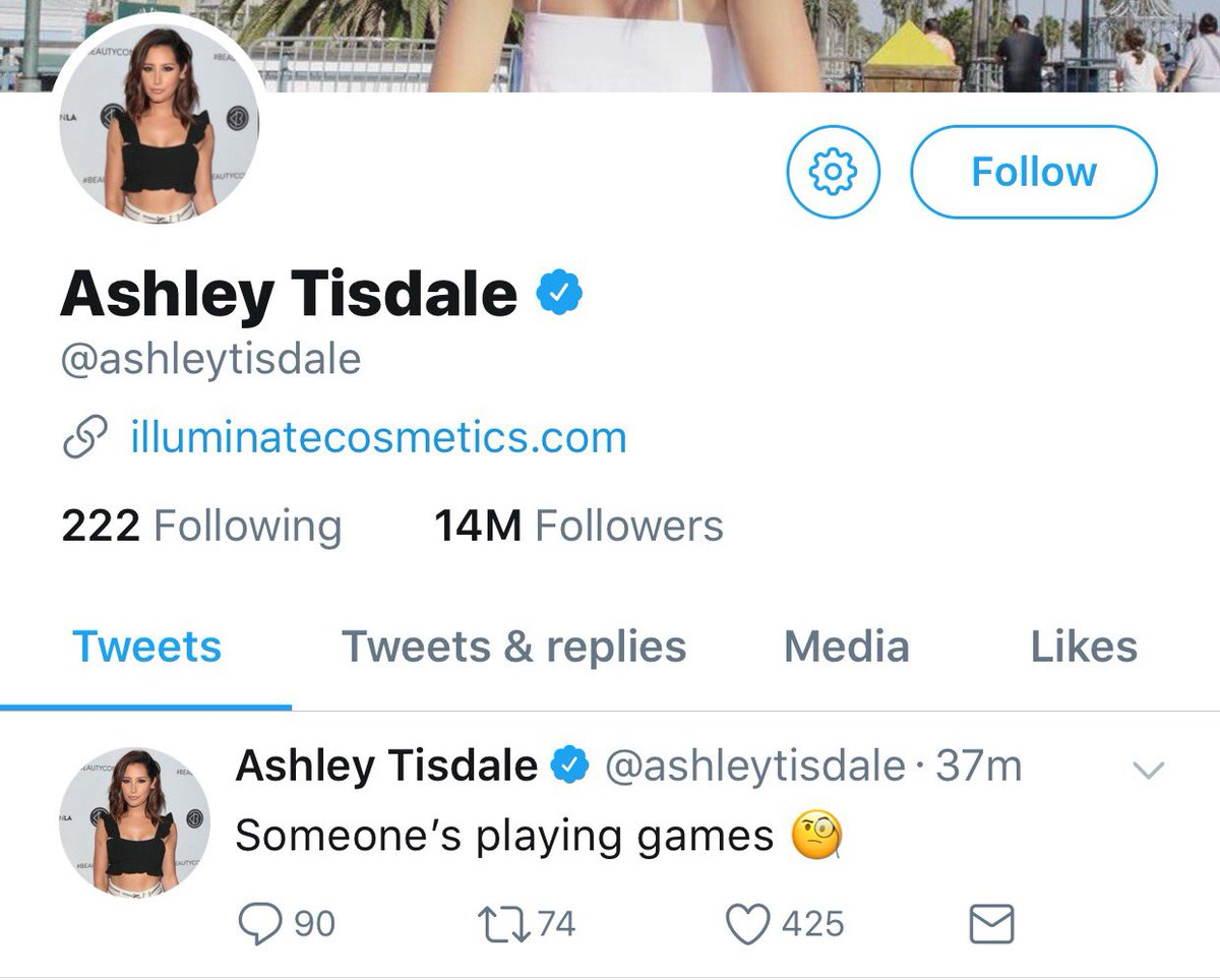 Ashley Tisdale has now deleted the tweet...
