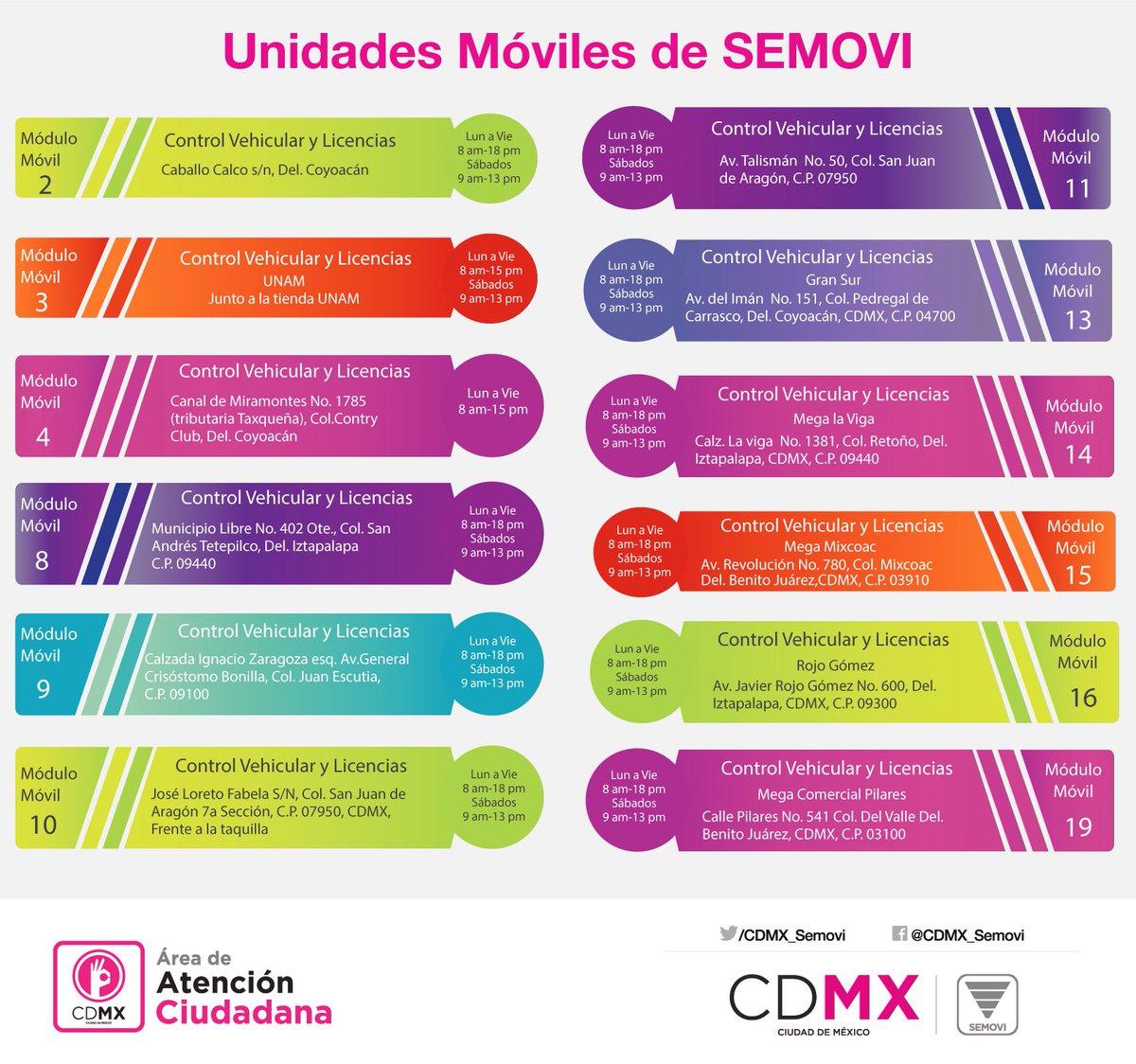 Secretaría De Movilidad Cdmx On Twitter En Los Módulos