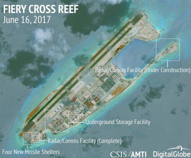 Südchinesisches Meer: China baut offenbar Militärstützpunkte aus https://t.co/k2z98onSAM