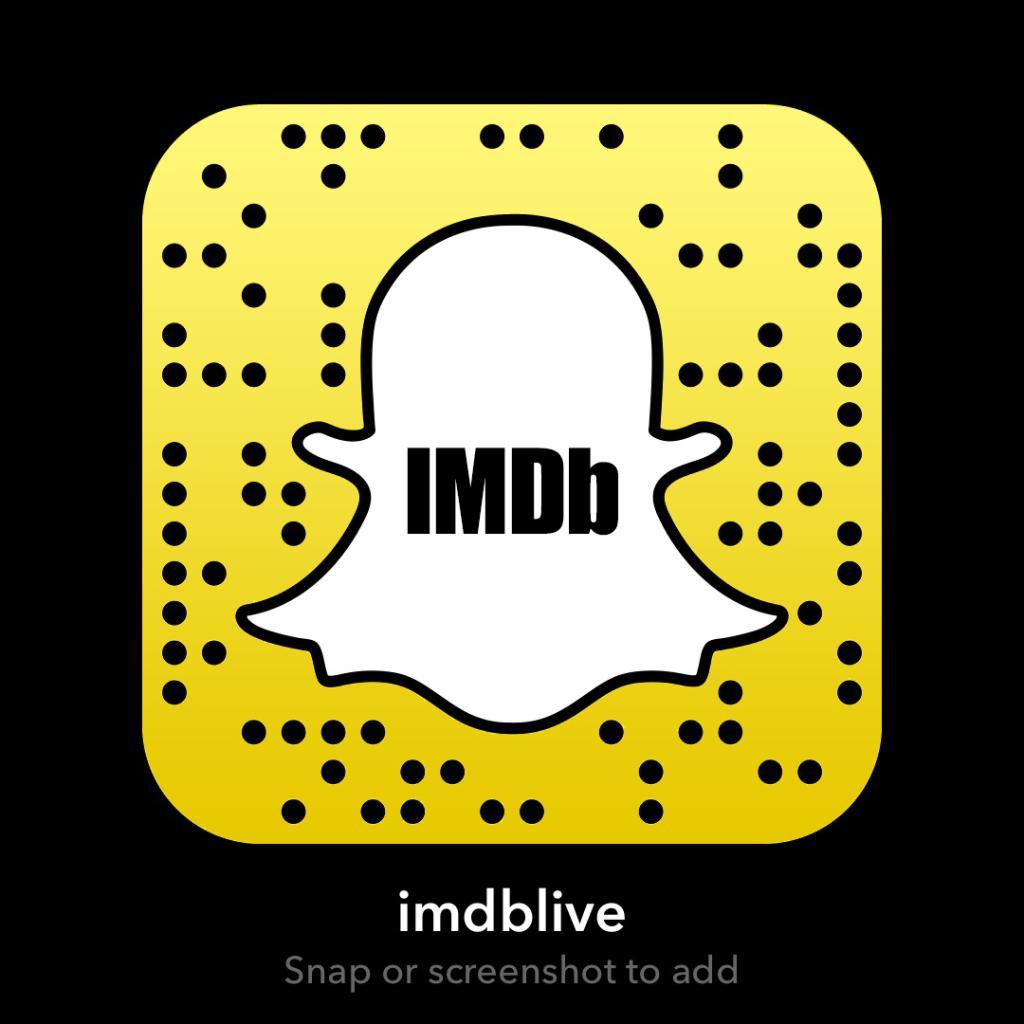 Add us on Snapchat at IMDbLive! 👻
