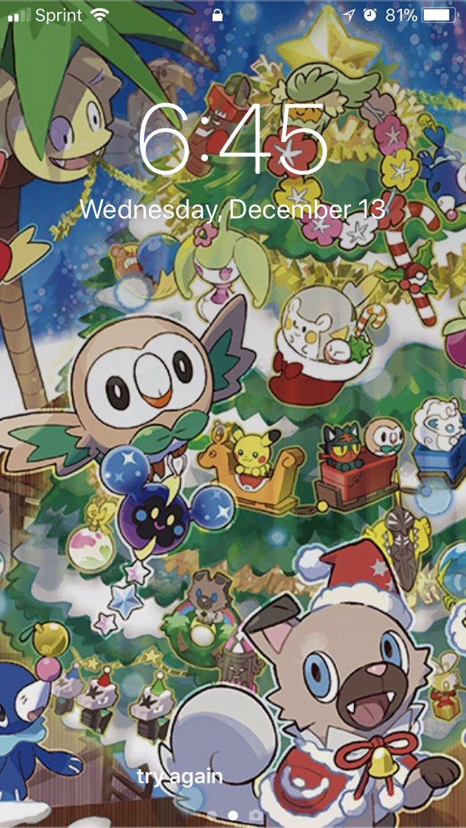 I love my new wallpaper #Pokemon #HappyHolidays https://t.co/k9TPsHajjw