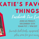 Join me for a brand NEW FB Live just in time for the holidays where I'm going to be sharing some of my favorite tech tools, equipment and books & doing some FUN giveaways!We're going to have tons of fun! Grab a glass of egg nog & join me!RSVP here: https://t.co/6KjLybj42u